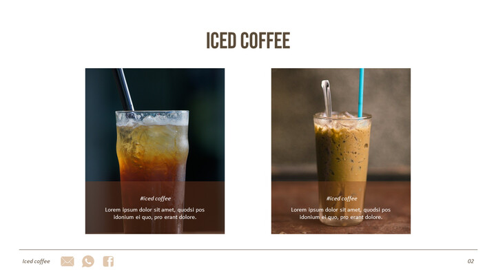 아이스 커피 인터랙티브 파워포인트 예제_02