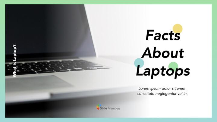 노트북에 대한 사실 심플한 키노트 템플릿_01