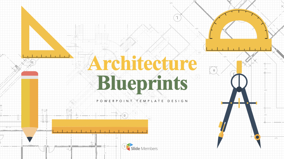 Architecture Blueprints Apple Keynote Template Construction