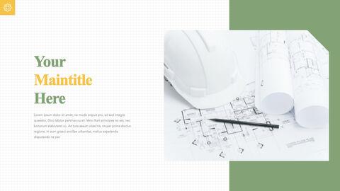 건축 청사진 애플 키노트 템플릿_23