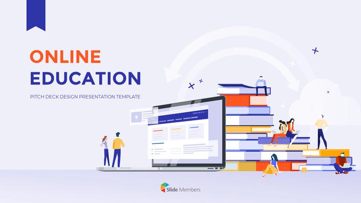 온라인 교육 피치덱 디자인 프레젠테이션 템플릿 디자인_01