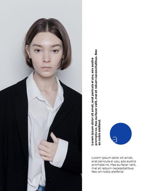 패션 브랜드 세로형 룩북 베스트 비즈니스 파워포인트 템플릿_03