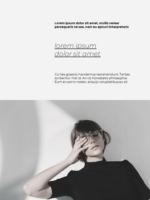 패션 브랜드 세로형 룩북 베스트 비즈니스 파워포인트 템플릿_05