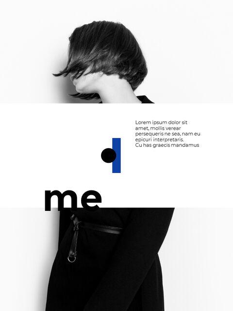 패션 브랜드 세로형 룩북 베스트 비즈니스 파워포인트 템플릿_06