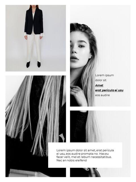 패션 브랜드 세로형 룩북 베스트 비즈니스 파워포인트 템플릿_08