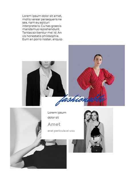 패션 브랜드 세로형 룩북 베스트 비즈니스 파워포인트 템플릿_11