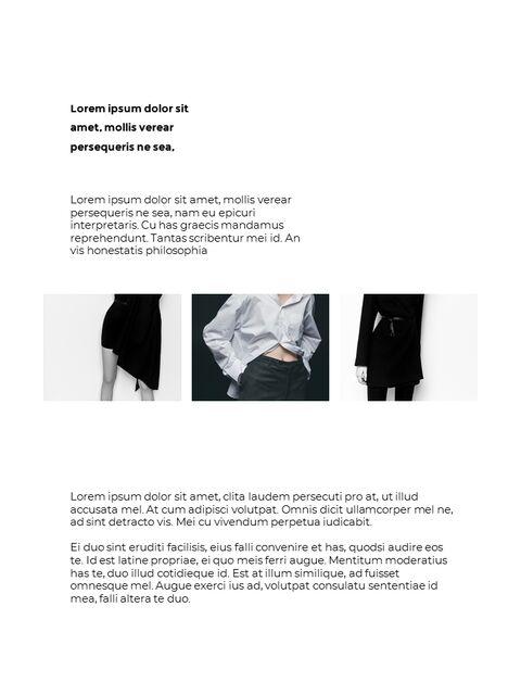 패션 브랜드 세로형 룩북 베스트 비즈니스 파워포인트 템플릿_12