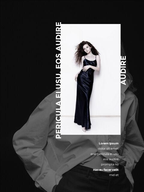 패션 브랜드 세로형 룩북 베스트 비즈니스 파워포인트 템플릿_13