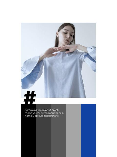 패션 브랜드 세로형 룩북 베스트 비즈니스 파워포인트 템플릿_15