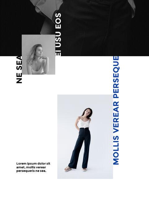 패션 브랜드 세로형 룩북 베스트 비즈니스 파워포인트 템플릿_16
