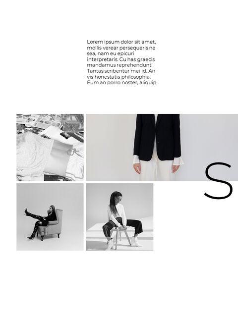 패션 브랜드 세로형 룩북 베스트 비즈니스 파워포인트 템플릿_18