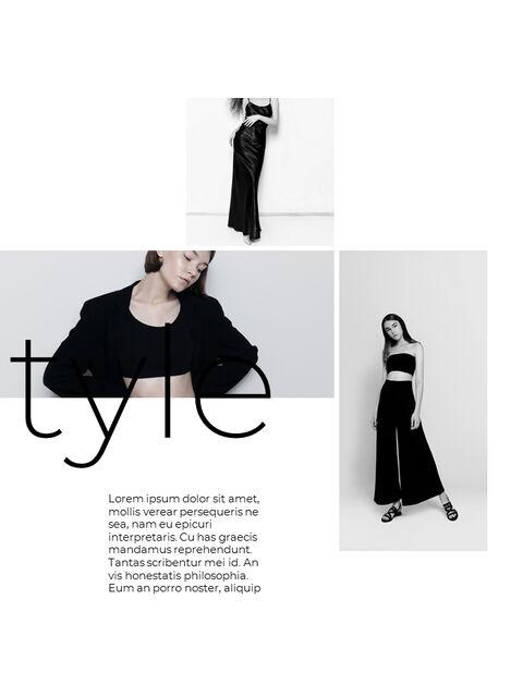 패션 브랜드 세로형 룩북 베스트 비즈니스 파워포인트 템플릿_19