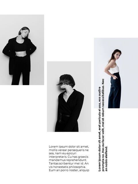패션 브랜드 세로형 룩북 베스트 비즈니스 파워포인트 템플릿_21