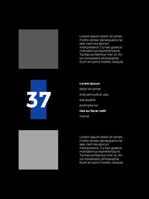 패션 브랜드 세로형 룩북 베스트 비즈니스 파워포인트 템플릿_23