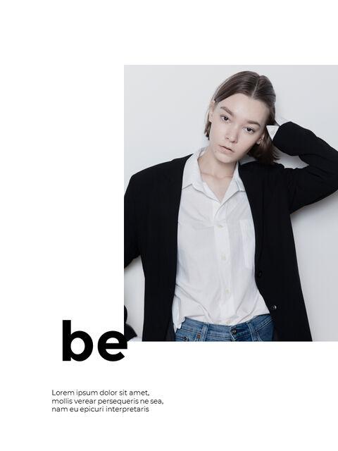 패션 브랜드 세로형 룩북 베스트 비즈니스 파워포인트 템플릿_24