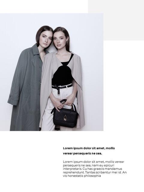 패션 브랜드 세로형 룩북 베스트 비즈니스 파워포인트 템플릿_26