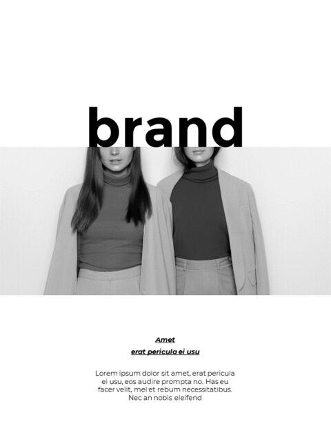 패션 브랜드 세로형 룩북 베스트 비즈니스 파워포인트 템플릿_28