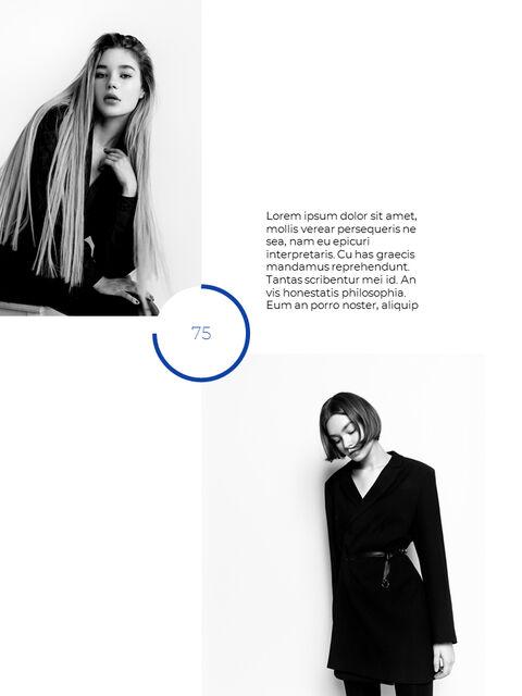 패션 브랜드 세로형 룩북 베스트 비즈니스 파워포인트 템플릿_30