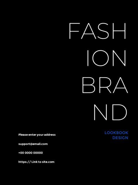 패션 브랜드 세로형 룩북 베스트 비즈니스 파워포인트 템플릿_32