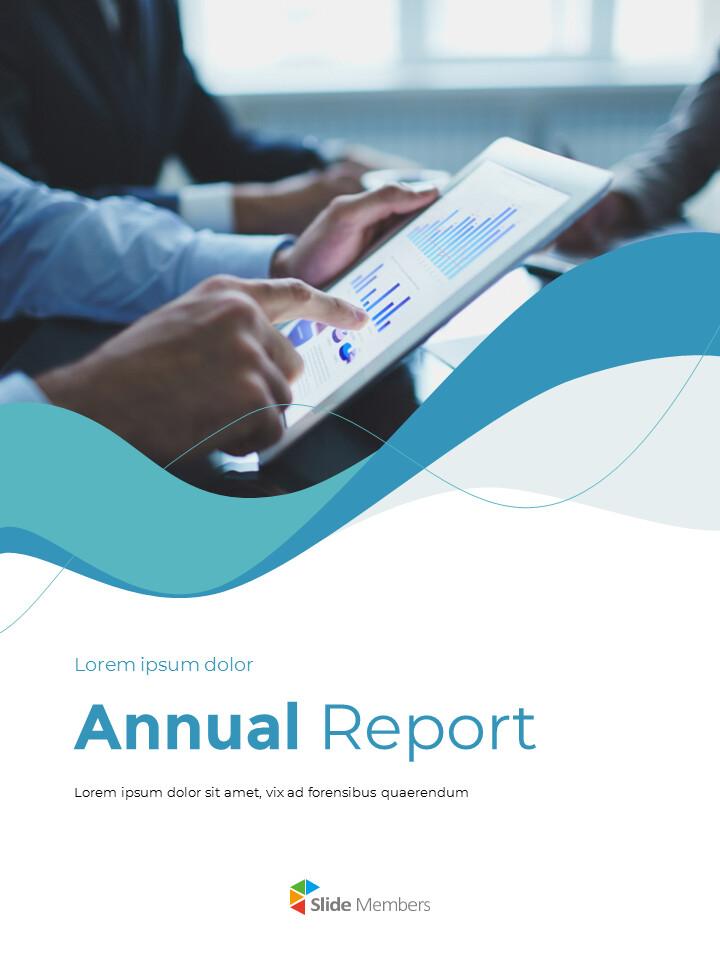 웨이브 디자인 연차 보고서 심플한 템플릿 디자인_01