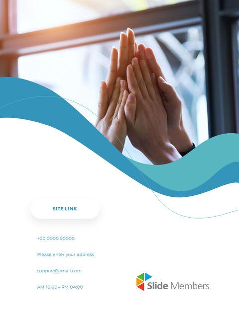 웨이브 디자인 연차 보고서 심플한 템플릿 디자인_28