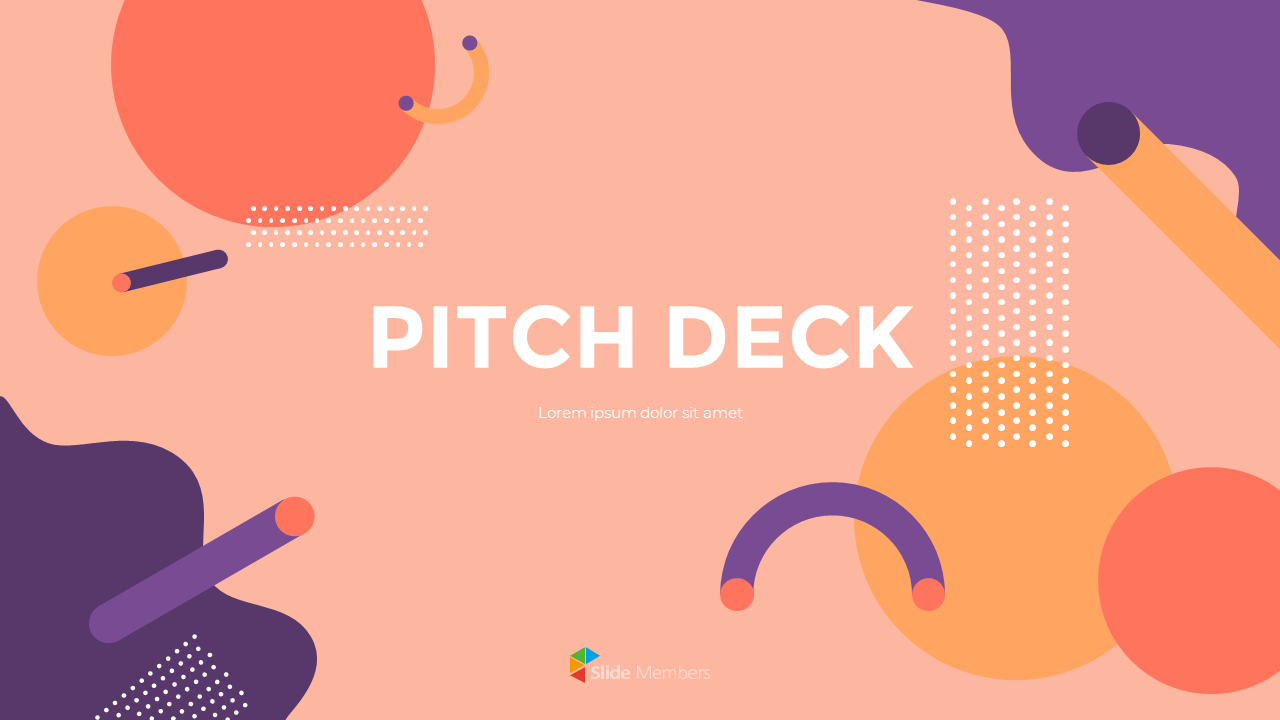Background Design Pitch Deck Marketing Presentation Ppt