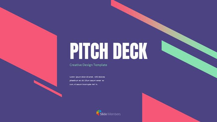 크리에이티브 디자인 피치덱 심플한 Google 슬라이드 템플릿_01