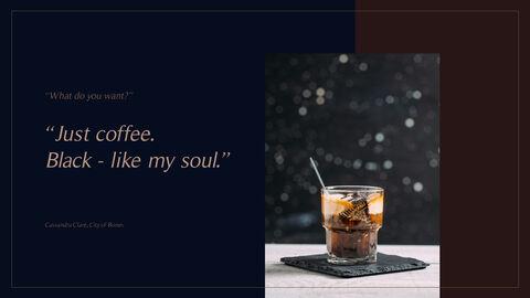 고급 커피 숍 테마 파워포인트_13