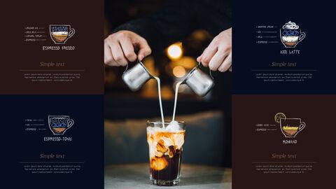 고급 커피 숍 테마 파워포인트_20
