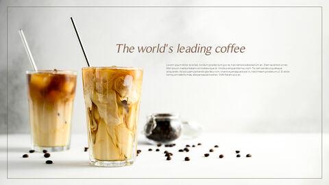 고급 커피 숍 테마 파워포인트_23