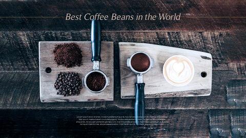 고급 커피 숍 테마 파워포인트_24