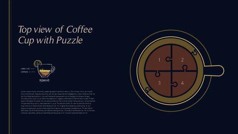 고급 커피 숍 테마 파워포인트_28