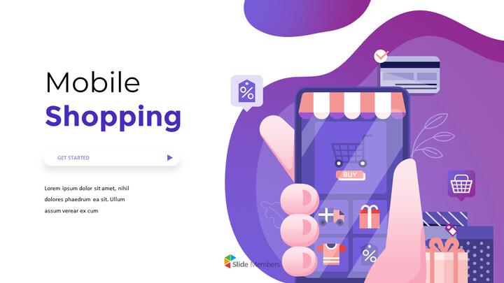 모바일 쇼핑 서비스 프리미엄 파워포인트 템플릿_01