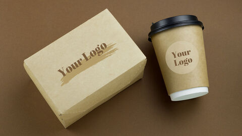 Mockup PowerPoint Templates (Café Coffee, Take-Out Cup)_01