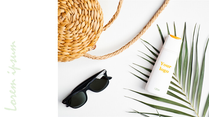 Sunscreen, Cosmetics Mockup slides_01