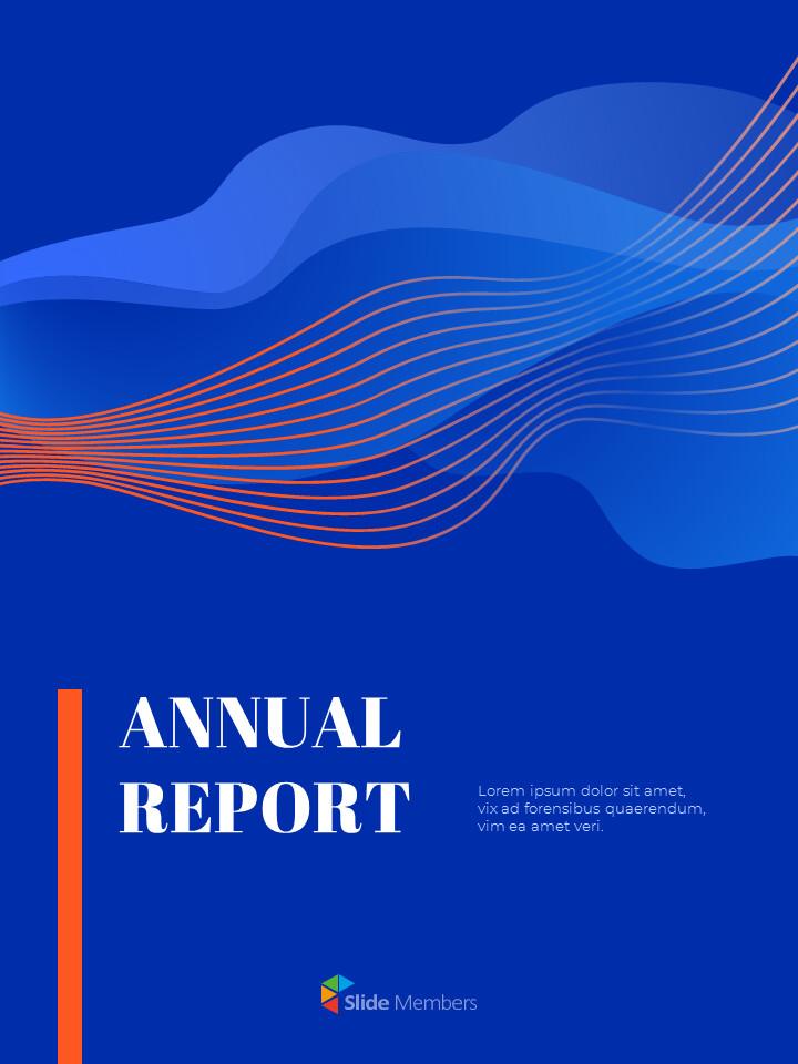 파란색 배경 개념 연례 보고서 베스트 PPT 템플릿_01