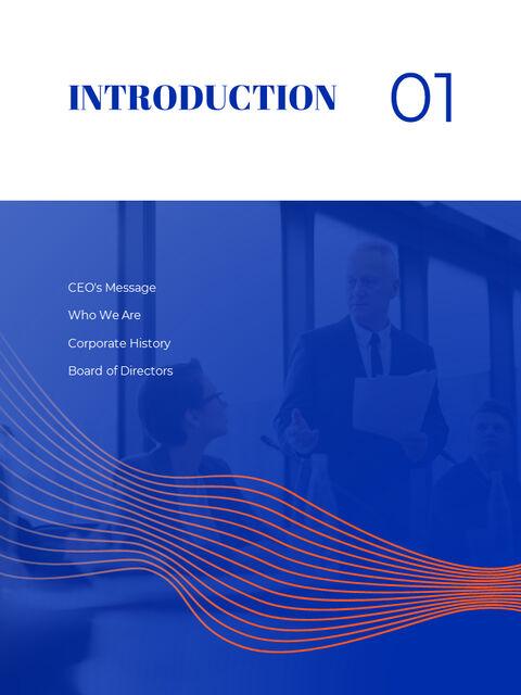 파란색 배경 개념 연례 보고서 베스트 PPT 템플릿_03