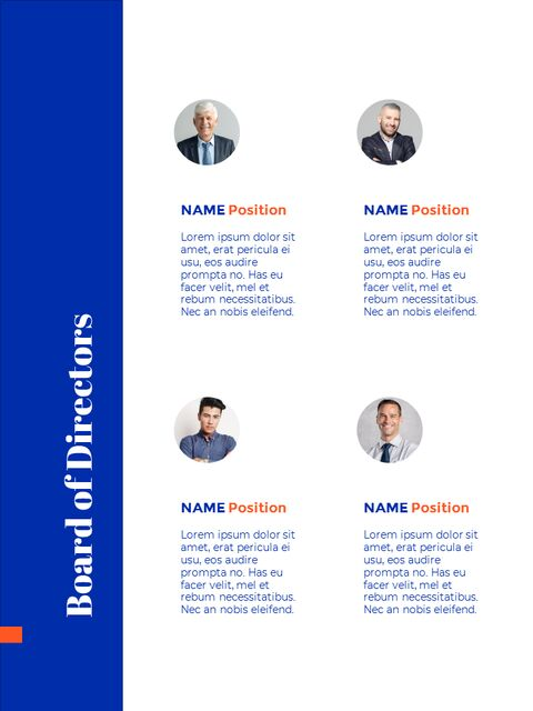 Blue Background Concept Annual Report Best PPT Templates_03