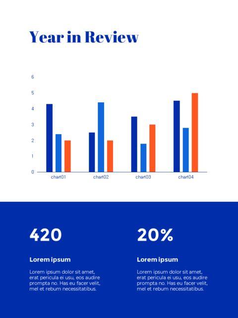 파란색 배경 개념 연례 보고서 베스트 PPT 템플릿_10
