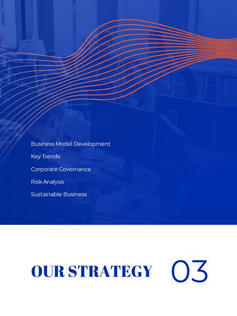 파란색 배경 개념 연례 보고서 베스트 PPT 템플릿_12