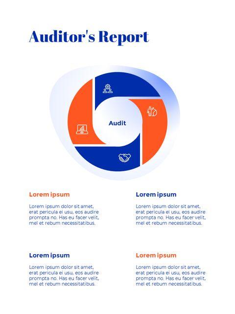 파란색 배경 개념 연례 보고서 베스트 PPT 템플릿_19