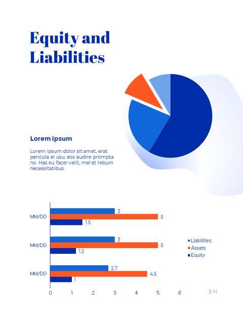 파란색 배경 개념 연례 보고서 베스트 PPT 템플릿_22