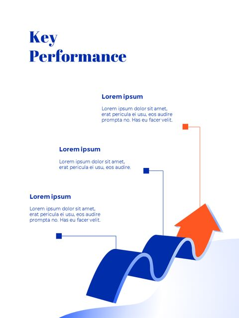 파란색 배경 개념 연례 보고서 베스트 PPT 템플릿_24