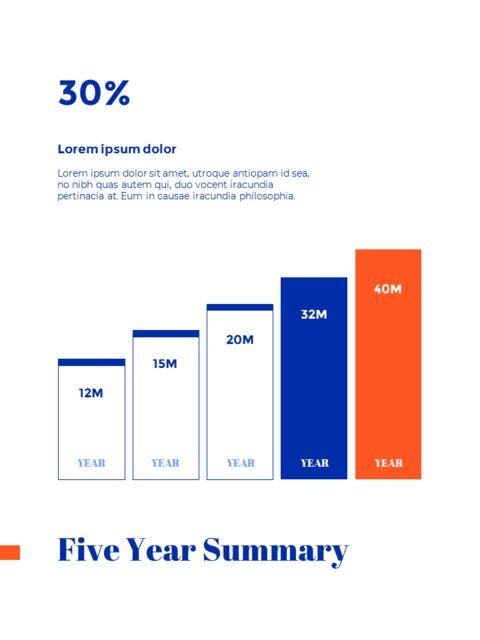 파란색 배경 개념 연례 보고서 베스트 PPT 템플릿_26