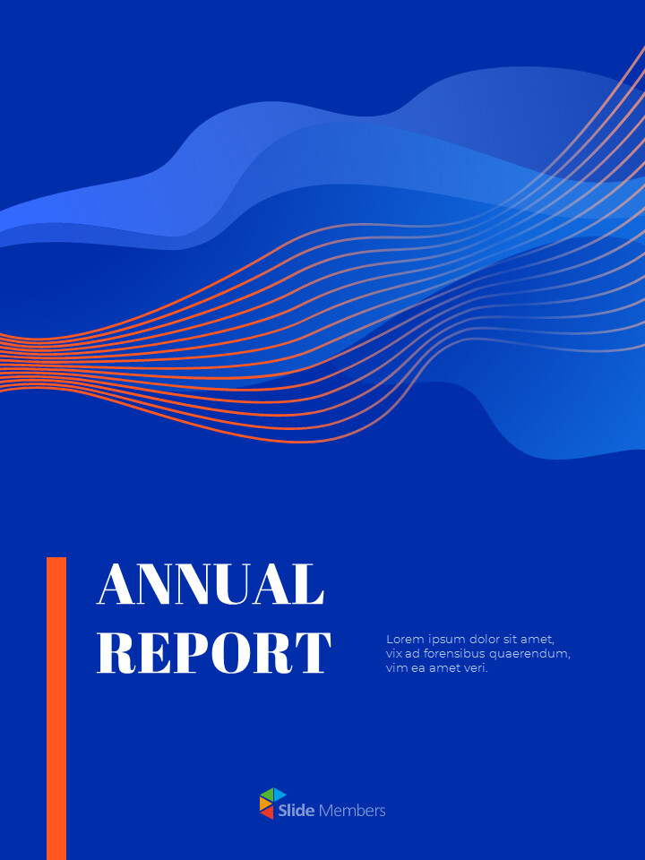 Blue Background Concept Annual Report Simple Google Templates_01