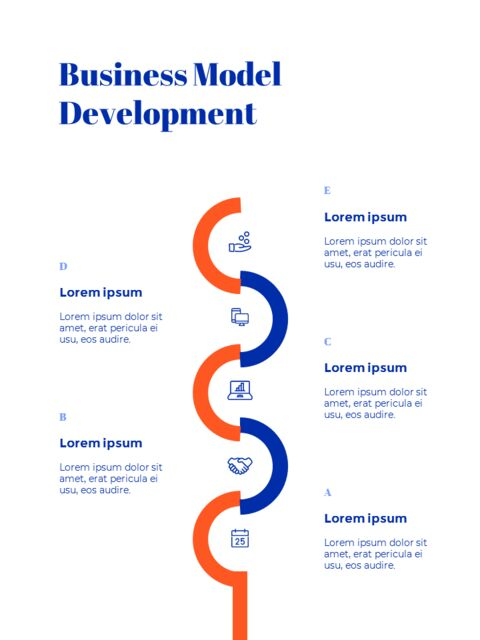 Blue Background Concept Annual Report Simple Google Templates_03