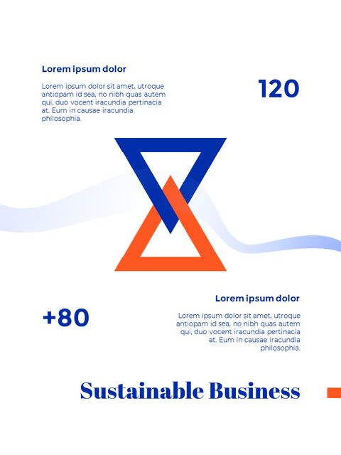 Blue Background Concept Annual Report Simple Google Templates_04