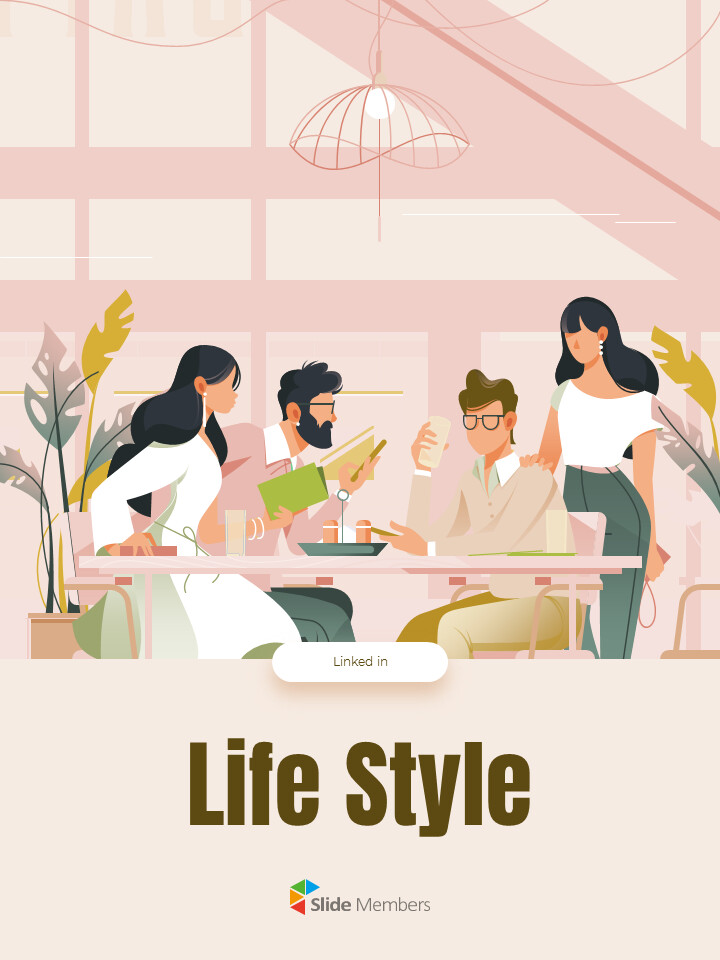 Life Style Vertical Design Easy Slides Design_01