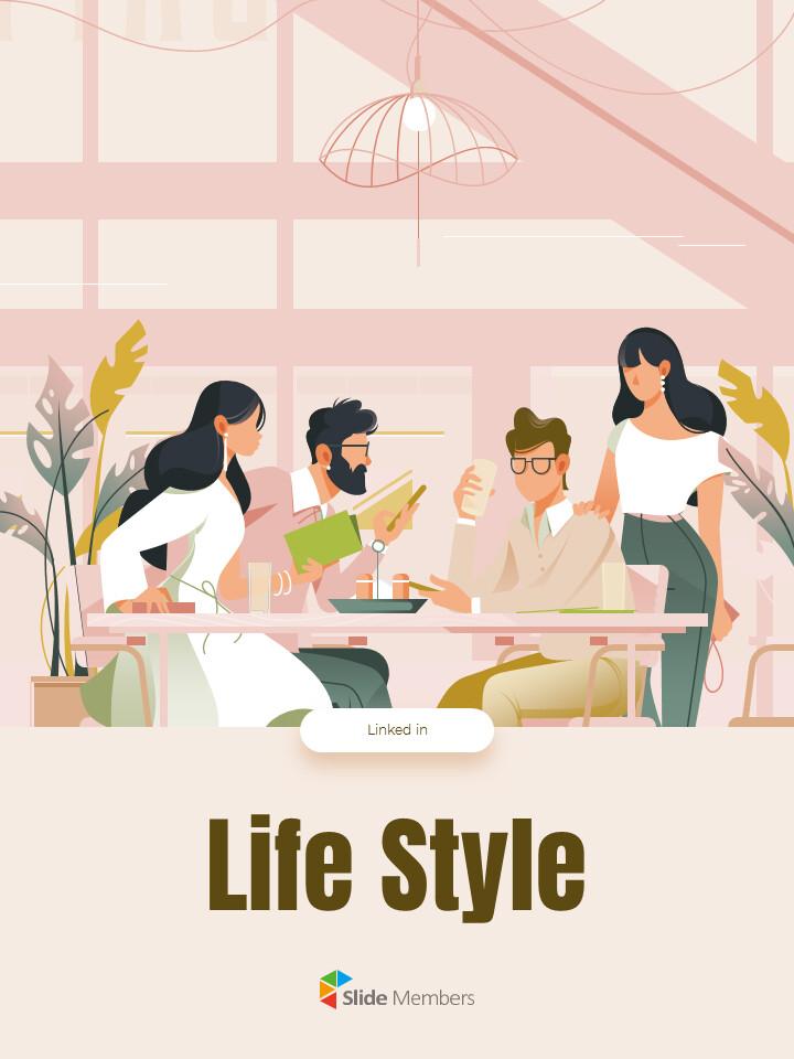 Life Style Vertical Design PPT Templates Simple Design_01