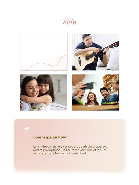라이프 스타일 세로형 디자인 피피티 템플릿 샘플 디자인_12